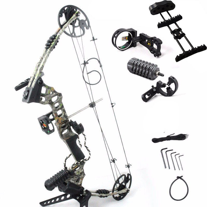 Adjustable 30-70 lbs Compound Bow Powerful Archery Outdoor Shooting Hunting Bow With Complete Accessories archery hunting 30 40 lbs compound bow right hand adjustable bow set for shooting fishing target outdoor practice