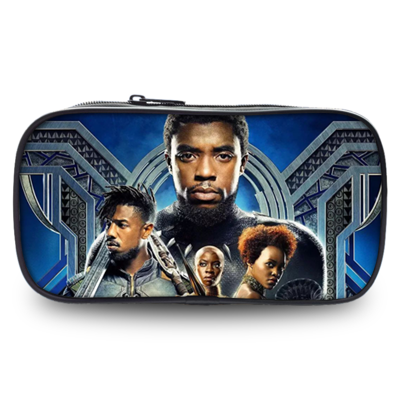 Black Panther Printing Wallets Pen 3D Bag For Boys Girls Pencil School Case Fashion Casual Portable Coin Purse Pen Pouch Makeup