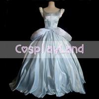 Princess Cinderella Costume Argento Misty Blu Ballgown Vestito Fatto Su Misura per Le Donne Del Partito di Halloween Cenerentola Costume Cosplay