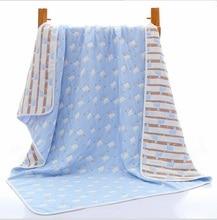 Newborn Muslin Cotton Baby Swaddle Blanket Newborn Wrap 6 layers Gauze Autumn Winter Kids Bath Towel Infant Boy Quilt 120*150cm