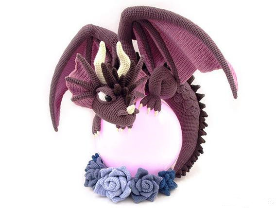 Crochet Toys  Amigurumi  Dragon Model Number B01