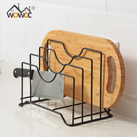 4 Layers Iron Place Pot Lid Shelf Holder Storage Tool For Kitchen Organizer Goods Pan Cover