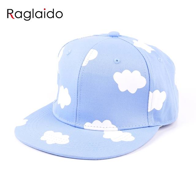 35af3986555 placeholder ladies hip hop hats pink and blue clouds in summer fresh and  cute casual flat-