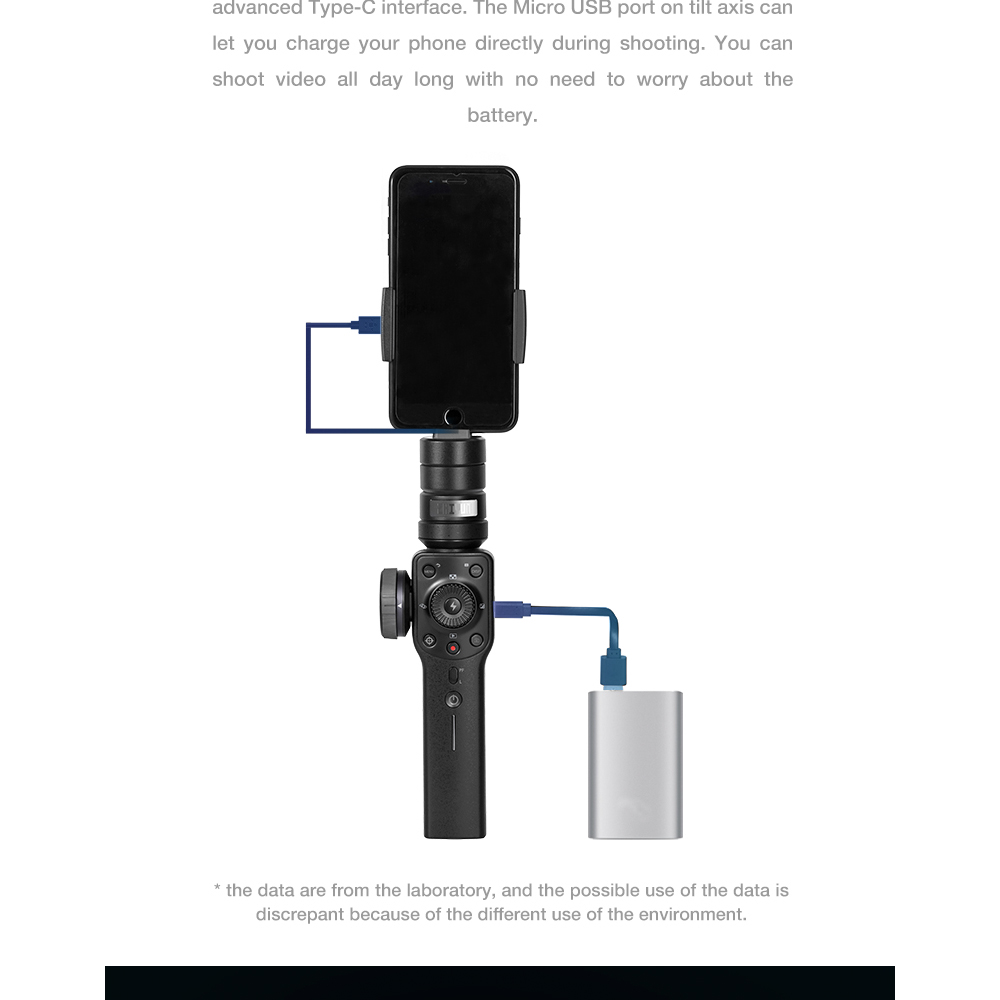 ZHIYUN Official Smooth 4 3-Axis Handheld Smartphone Gimbal Stabilizer VS Smooth Q Model for iPhone X 8Plus 8 7 6S Samsung S9S8S7 7