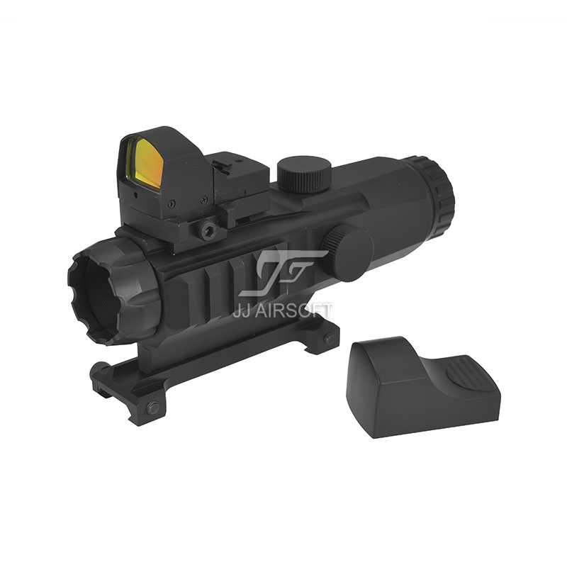 TARGET OPTICS LPHM Mark4 HAMR 3x24 with Red/Green Reticle illumination Rifle Scope with Mini Red Dot (Black/Tan)