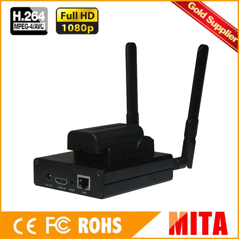 Meilleur H.264/H264 HDMI à l'encodeur IP IPTV encodeur de diffusion en direct sans fil transmetteur vidéo Wifi Streamer RTMP RTSP HLS Support