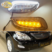 2PCS LED Daytime Running Light For Lexus RX300 RX330 RX350 2003 - 2009 Yellow Turn Signal Waterproof 12V DRL Fog Lamp Decoration(China)