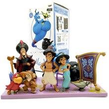Disney 8 adet/takım 2 10 cm Aladdin Pvc Aksiyon Figürleri Sevimli Karikatür Prenses Bebek Yasemin Genie Jafar Oyuncak Modelleri hediye Çocuklar Için