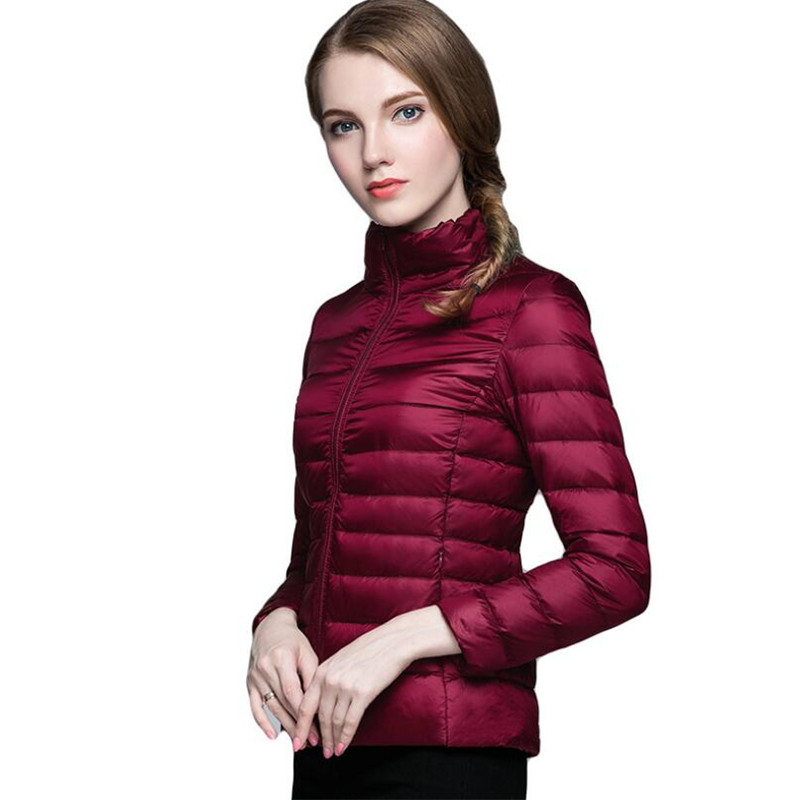 New no hat Multi-color large size S-4XL spring and autumn women's fashion jacket ultra light soft warm collar collar slim jacket