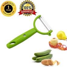 LMETJMA – éplucheur de légumes et de fruits en acier inoxydable, trancheur de pommes de terre, de concombre et de carottes avec poignée, 1 pièce, KC0261