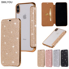 3D Glitter Wallet Case For iPhone X 8 Plus 5 5S 5E Case Sparkle Leather Bag For iPhone 6 6S 7 Plus XS Max Shockproof Cover Cases