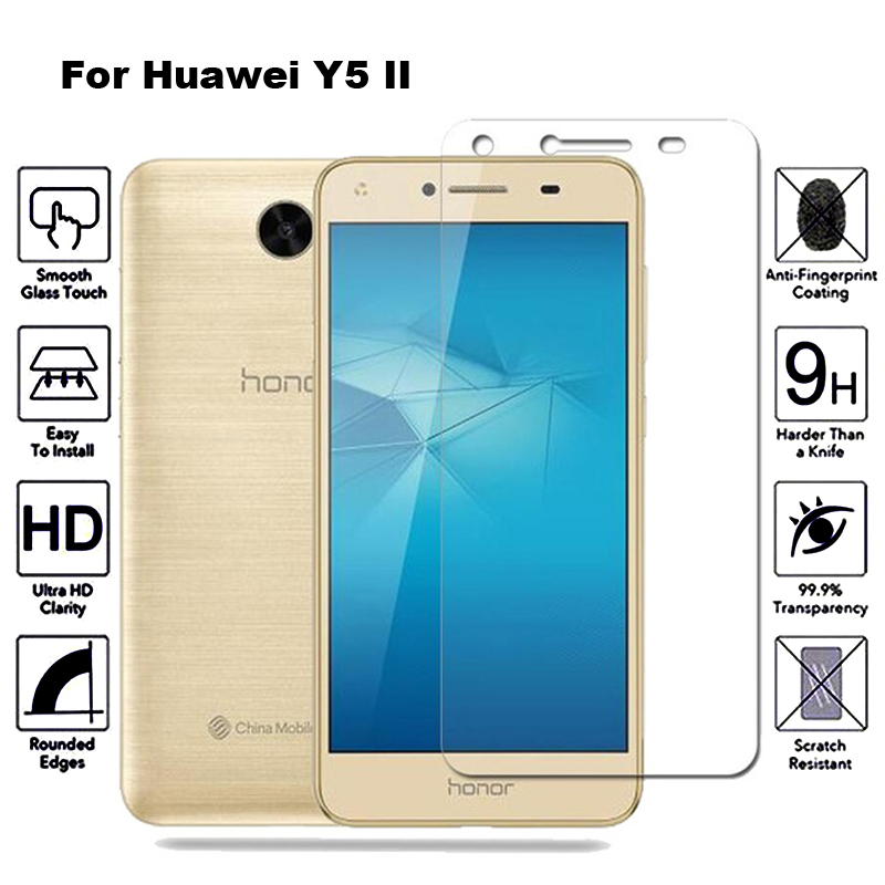2Pcs Tempered Glass For Huawei Y5 II Screen Protector Film Protective Glass For Huawei Y5 II 2 Y5II Cun-U29 Cun-L21 Cun L21 U29