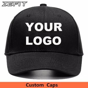 Image 1 - Logo personalizza cap piccola quantità di snap chiudi cap golf tennis papà cappello da sole visiera del cappello squadra di modo che porta da baseball cap