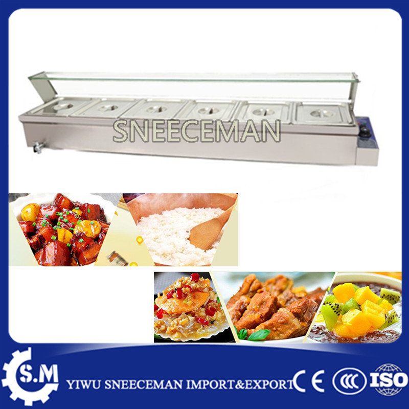 Wholesale Price Restaurant Equipment 6-Pan Electric Food Warmer