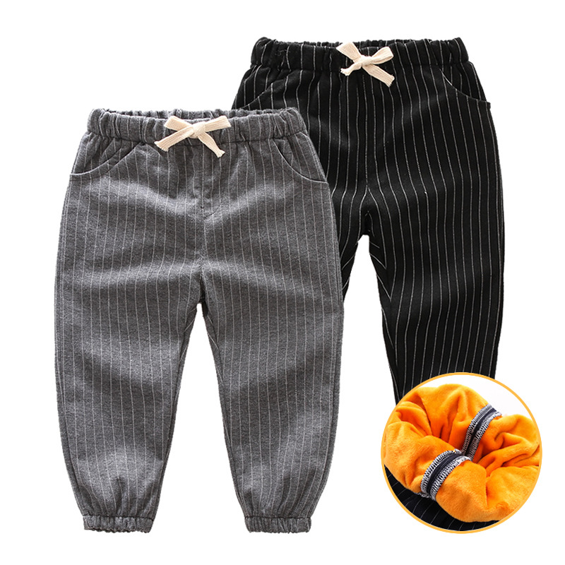 Baby girl winter clothes Kids pants baby sports pants gold velvet thick warm boys jogger pants children sports long pants