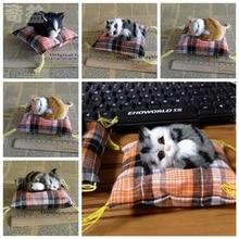 New Sleeping Cat Plush Stuffed Soft Lovely Cartoon Toy Press Simulation Animal Kids Doll Cute For