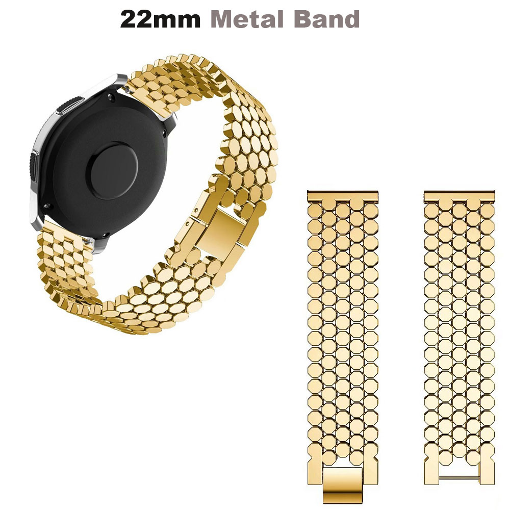 For Xiaomi Amazfit GTR 47mm Pace Stratos 2 Bracelet Stainless Steel Metal Watchband For Samsung Gear S3 Galaxy 46mm Strap