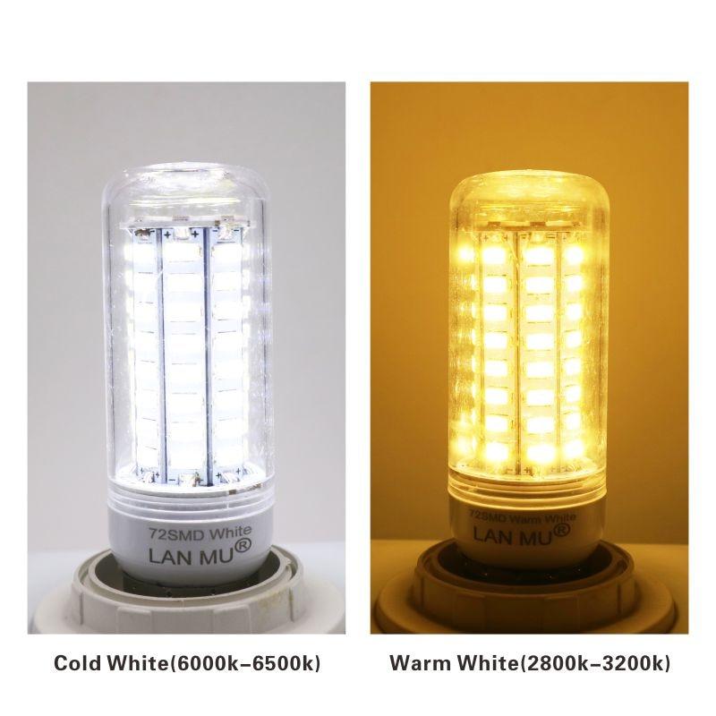 Купить с кэшбэком LATTUSO LED Lamp E27 E14 G9 Corn Light SMD 5730 Lampada LED Bulbs 220V Chandelier Candle Luz 24 36 48 56 69 72 LEDs Lights
