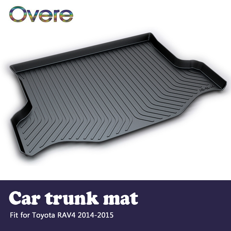 Overe 1Set Car Cargo rear trunk mat For Toyota RAV4 2014 2015 Car-styling Boot Liner Waterproof carpet Anti-slip mat Accessories цена