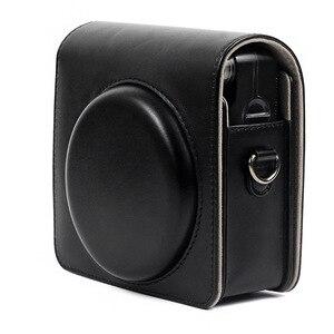 Image 5 - Fujifilm instax quadrado sq6 saco da câmera 4 cores do vintage caso de couro do plutônio bolsa de ombro bolsa de transporte capa proteção