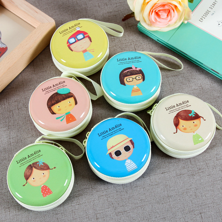 10PCS Cute Zipper Earphone Bag Wallet For Protective headphones Usb Cable Organizer,Portable Travel Earphone Case Key Case