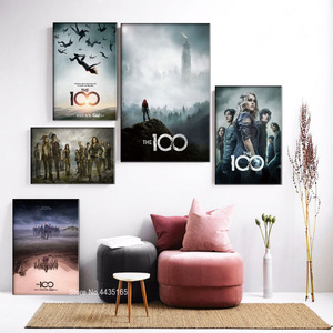 The 100 Season 1 2 3 4 5 Poster American Hot TV Show Posters and Prints Canvas Painting Wall Art Picture for Room Home Decor(China)