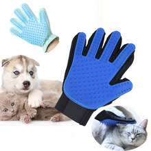 New Glove For Cats Cat Grooming Pet Dog Hair Deshedding Brush Comb Glove For Pet Dog Finger Cleaning Massage Glove For Animal pet grooming glove for cats brush comb cat hackle pet deshedding brush glove for animal dog pet hair gloves for cat dog grooming