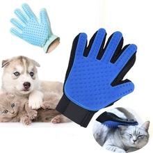 лучшая цена New Glove For Cats Cat Grooming Pet Dog Hair Deshedding Brush Comb Glove For Pet Dog Finger Cleaning Massage Glove For Animal