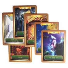 New mysterious power oracle cards deck English tarot guidance -divination fortune for women board game  53 cards/set