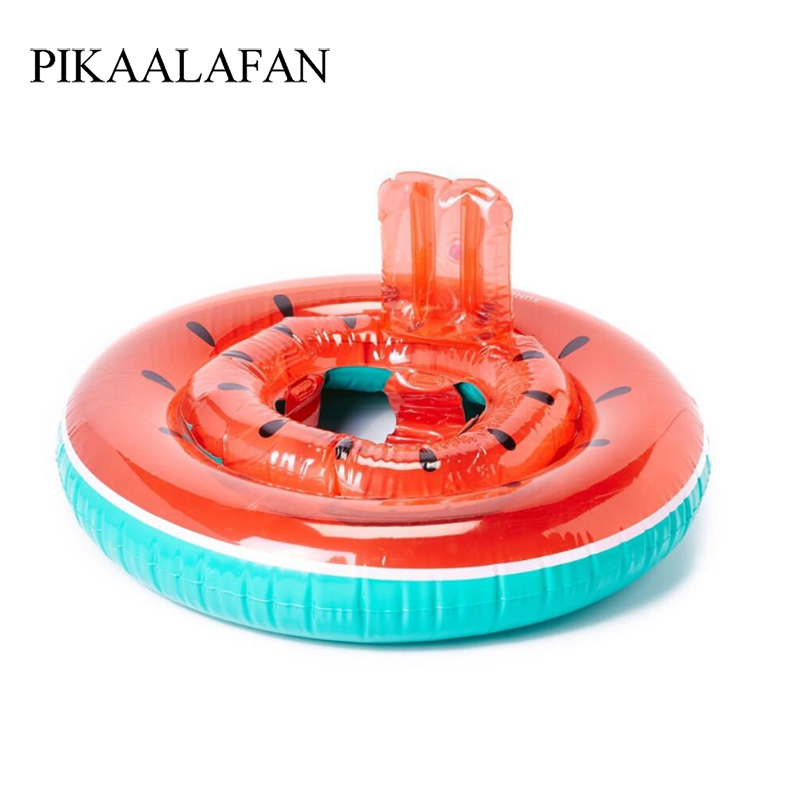 PIKAALAFAN Ins Hot Sale Inflatable Baby Watermelon Swim Ring Thickens Baby Seat Ring Pool Float Circle Mattress  Summer Pool Toy