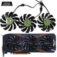 75 MM T128010SU 0.35A ventilador de refrigeración para Gigabyte 2 AORUS GTX 1060 de 1070 de 1080 G1 GTX 1070Ti 1080Ti 960 970 980Ti ventilador enfriador de tarjeta de vídeo