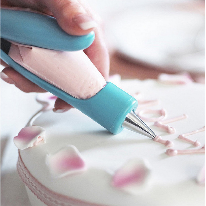 Pastry Icing Pen Cake Tools Piping Bag Nozzle Tips Fondant Cake Cream Syringe Tips Muffin Dessert Decorators Kitchen Accessories(China)