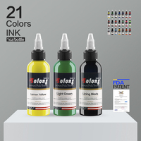 Solong Tattoo 30ml/Bottle 21 Color Tattoo Set Ink Pigment For Permanent Body Tattoo Art Beauty Tools TI302 30 21
