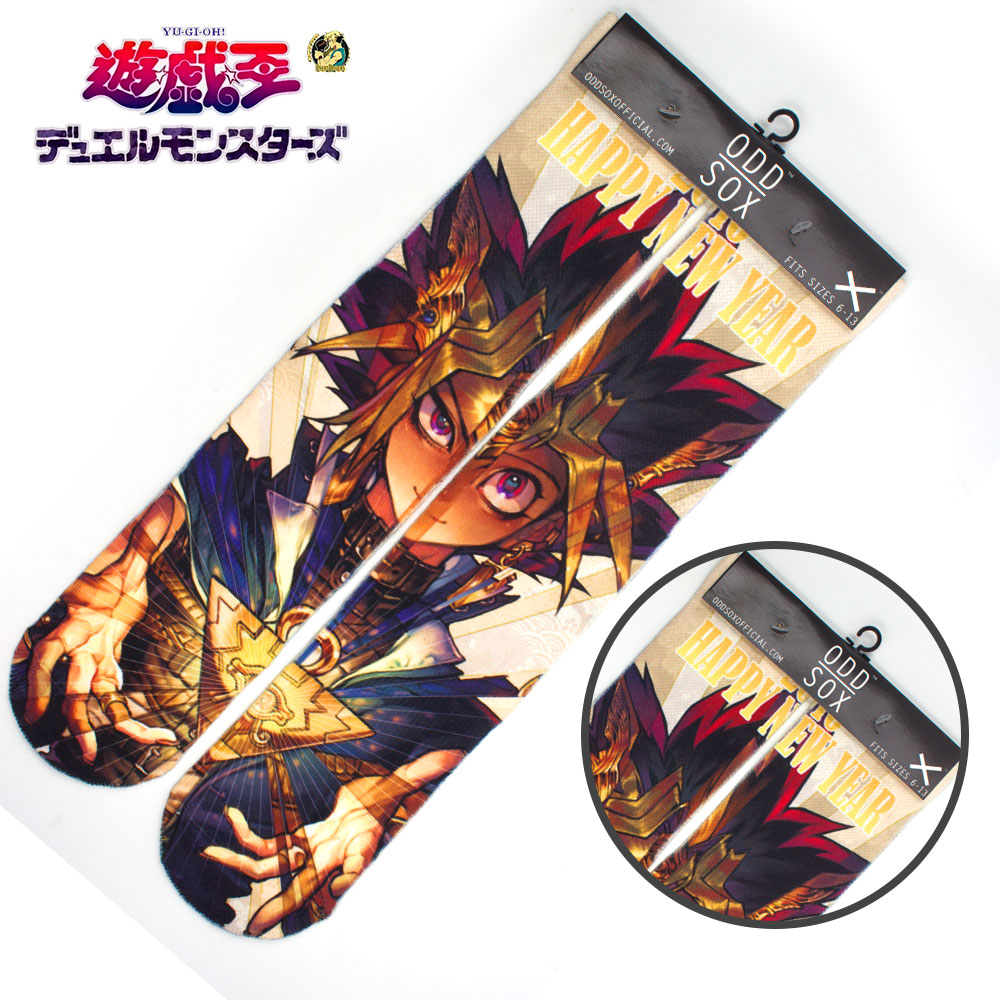 "4x16"" Anime Duel Monsters Yu-Gi-Oh! Yugi Muto Cotton Socks Colorful Stockings Warm Tights Cosplay Costume Cartoon Fashion Gifts"