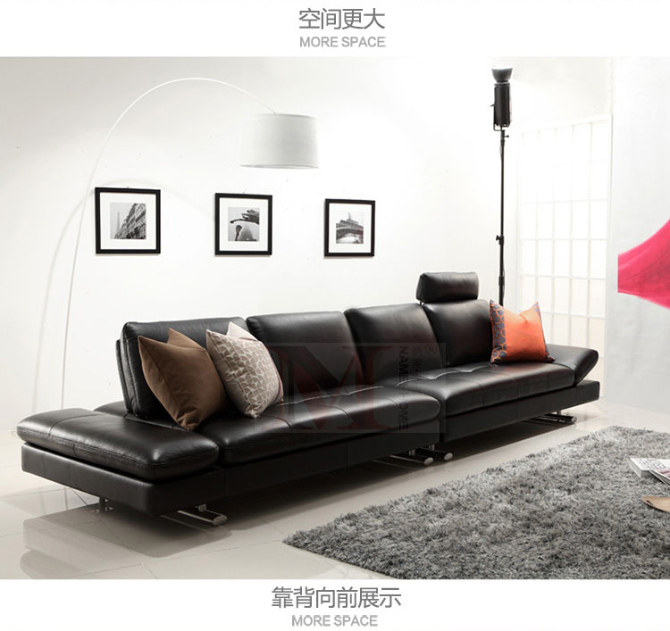 real leather sofa sectional living room sofa corner home furniture - Furniture - Photo 4