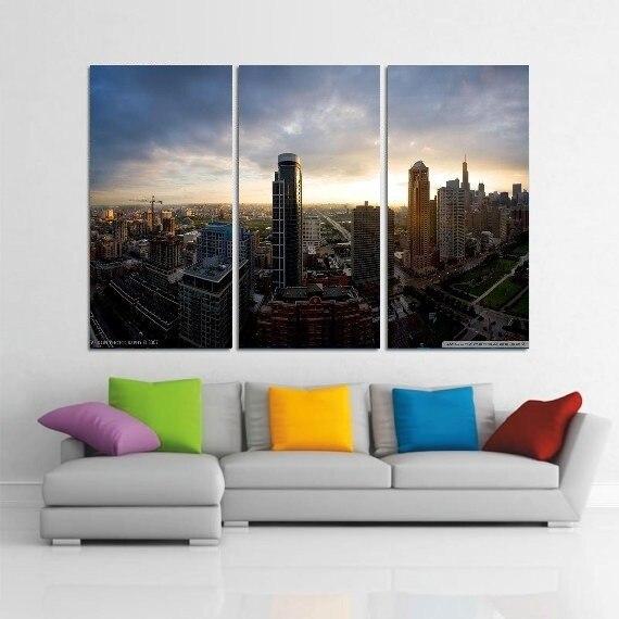 Promo Moderne Coloré Photo Image ville scène Room Decor 3 ...