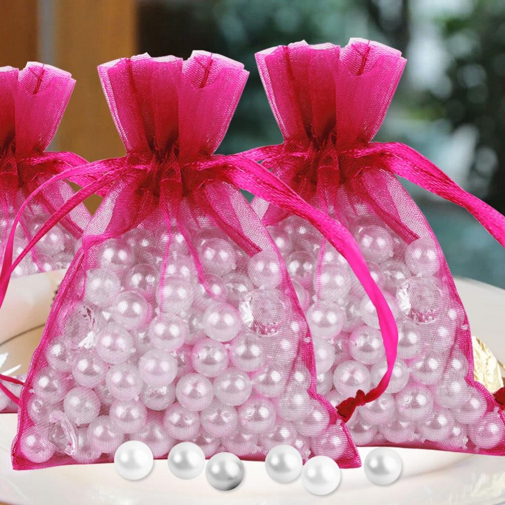 50pcs/lot Organza Gift Bag 7*9cm Wedding Favors and Gifts Wedding ...
