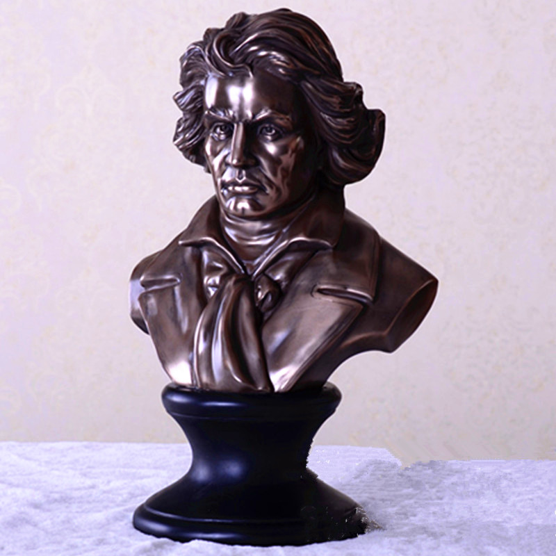 Ludwig Van Beethoven Western Classical Composer Half-Length Photo Or Portrait Statue Creative Craftwork Study Decoration G1004Ludwig Van Beethoven Western Classical Composer Half-Length Photo Or Portrait Statue Creative Craftwork Study Decoration G1004