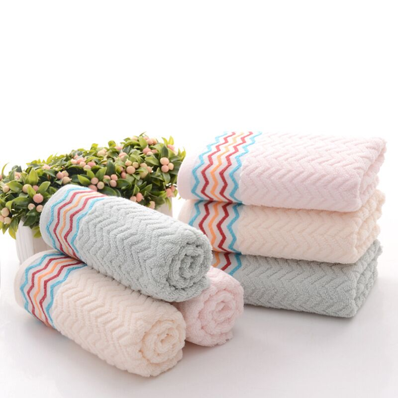 3476cm jacquard 100 cotton hand towel facesolid decorative terry hand towels - Decorative Hand Towels