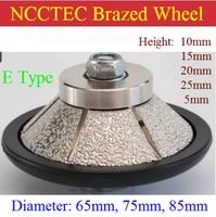 E Type shape [85mm*15mm/20mm] Diamond vacuum Brazed hand profile shaping wheel Granite ROUTER BIT