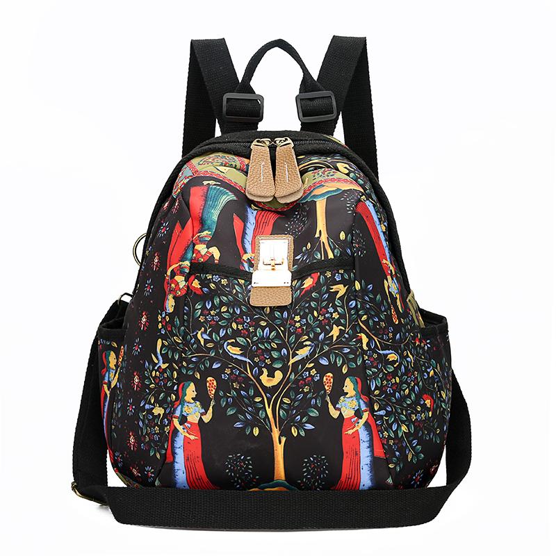 2019 New Women Emoji Shoulder Bag Best Travel Women Backpack Female Printing Waterproof School Knapsack mochila Bagpack Pack 12