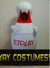 Hot sale 2017 Cartoon Character Adult Big Bowling Pin Alley Mascot Costume Dress cosplay Halloween Party Costume(China)
