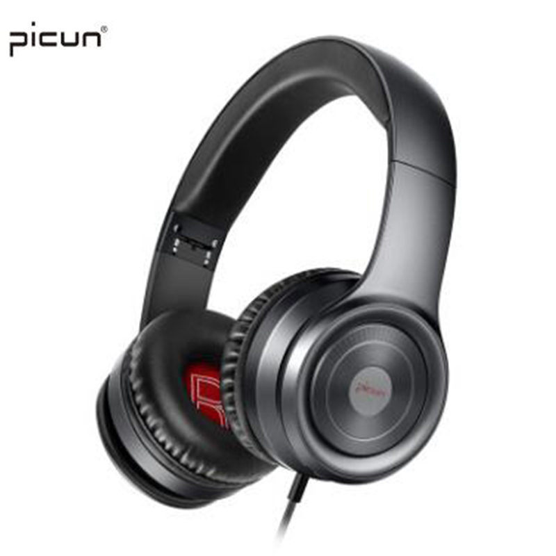 Picun C26 Bass Stereo Wired Earphone Gaming Auricular Sport Headphones Fone De Ouvido With Microphone for iOS Android Phone PC jr h15 headphone bluetooth wireless sport sweat earphone stereo bass music aux headset with microphone for iphone fone de ouvido