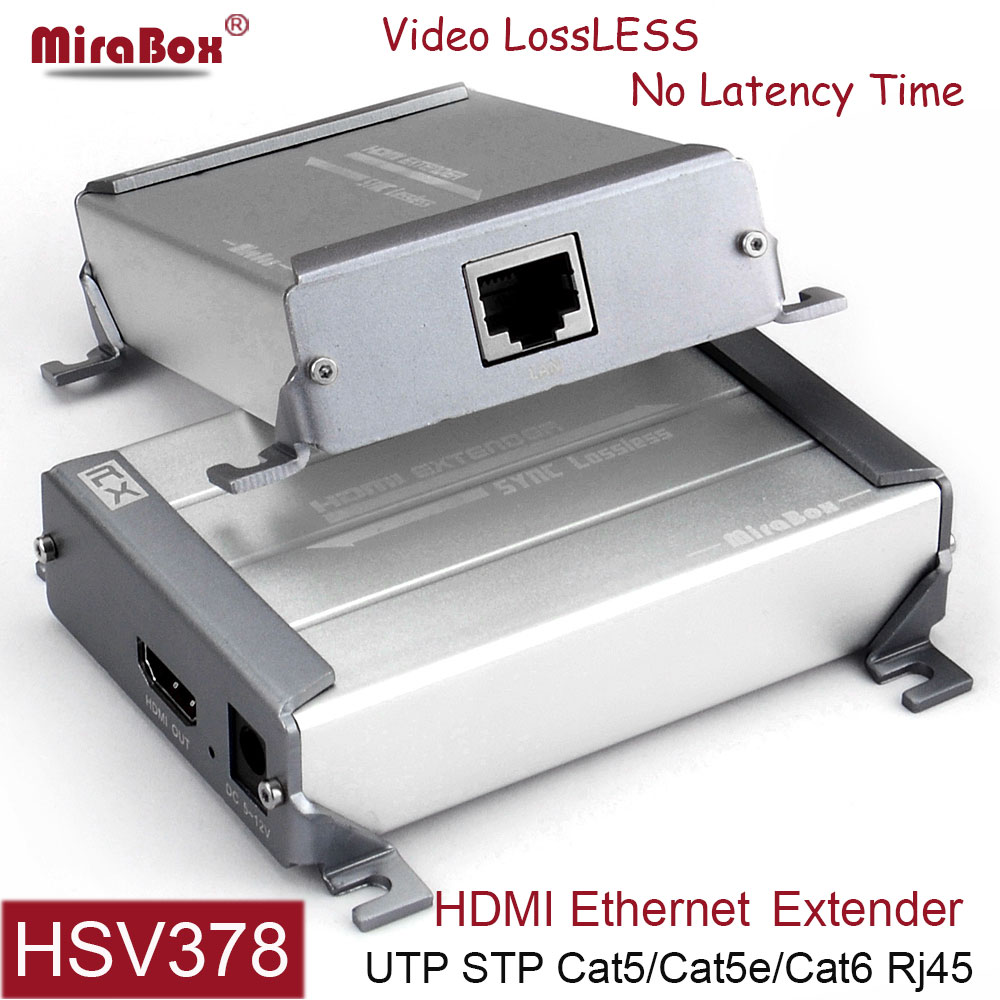 MiraBox HDMI Extender Support 1080p Full HD Lossless No Delay Over Single cable cat5 cat6 rj45 HDMI Transmitter with POE mirabox usb hdmi kvm extender up to 80m over cat5 cat5e cat6 cat6e lan rj45 single cable lossless non delay with mouse control