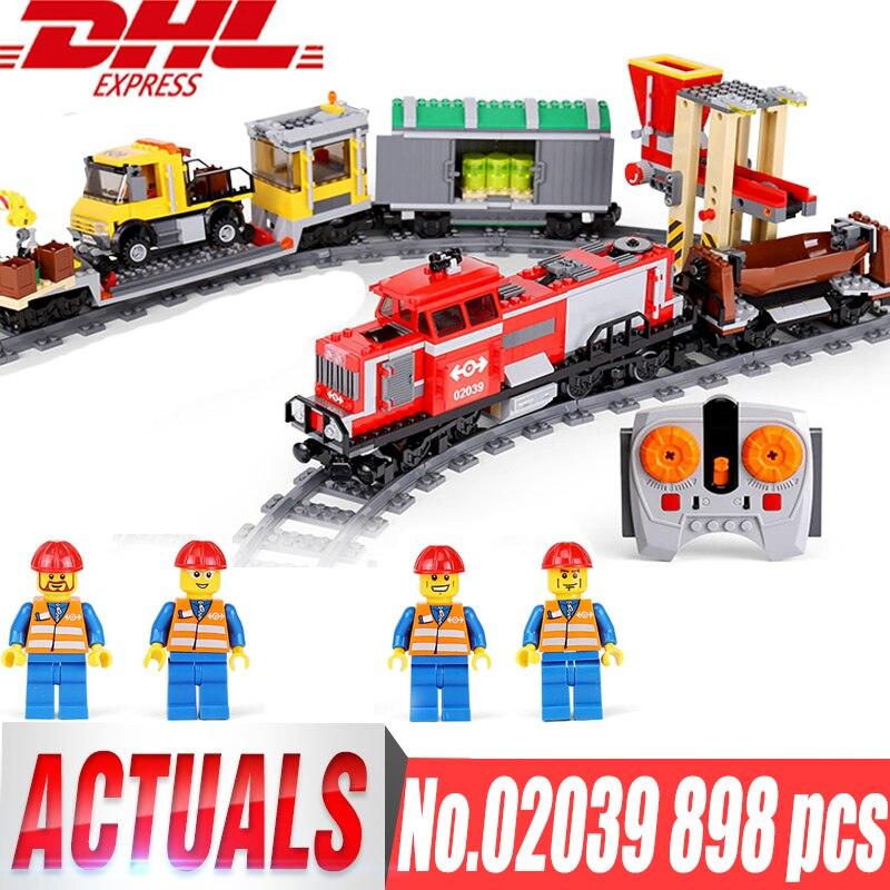все цены на Lepin City 02008 02009 02039 the Cargo Train Set Building Blocks Bricks 60052 RC Train 60098 Children Educational Toy City Lepin онлайн