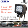 CO LIGHT 18W Led Work Light Bar Doulb Row 4 Cree Chip 10 30V 6000K Spot