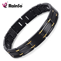 "Free Shipping Fashion Jewelry Healing Magnetic 316L Stainless Steel Bracelet For Men Or Women With FIR 8.5"" OSB-249"