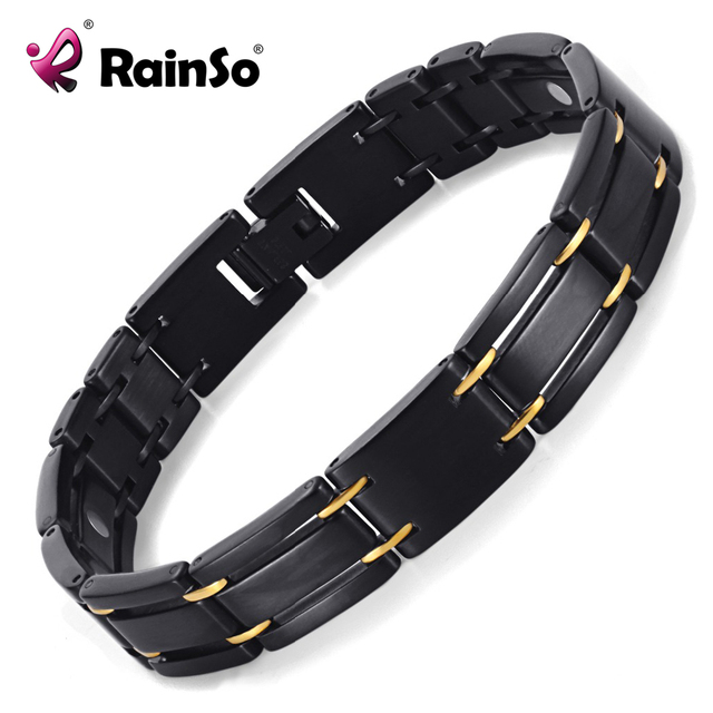 """Free Shipping Fashion Jewelry Healing Magnetic 316L Stainless Steel Bracelet For Men Or Women With FIR 8.5"""" OSB-249"""