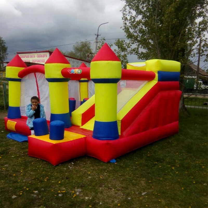 YARD Bouncy Castle Large Size Inflatable Slide Trampoline For Kids Jumping Castle Bounce House cama elastica inflatable wet dry waterslide kids commercial bounce house bouncy water slide hot for sale