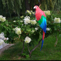 real life Bird feathers parrot huge 100cm coloured red parrot home garden decoration party prop toy gift h1452